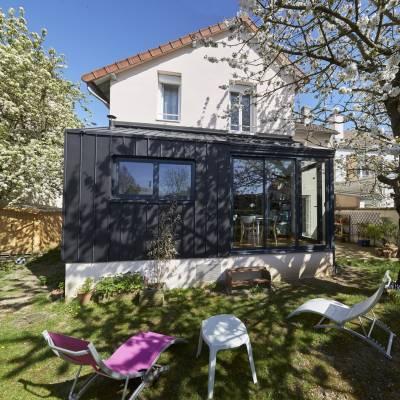 Extension sur jardin d'une maison en basse ville de Chartres 3