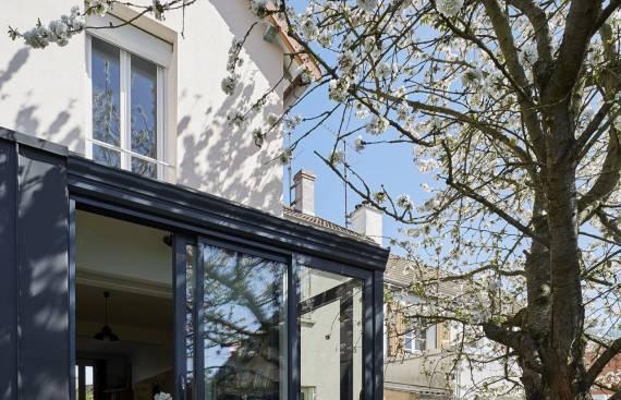 Extension sur jardin d'une maison en basse ville de Chartres 1_2